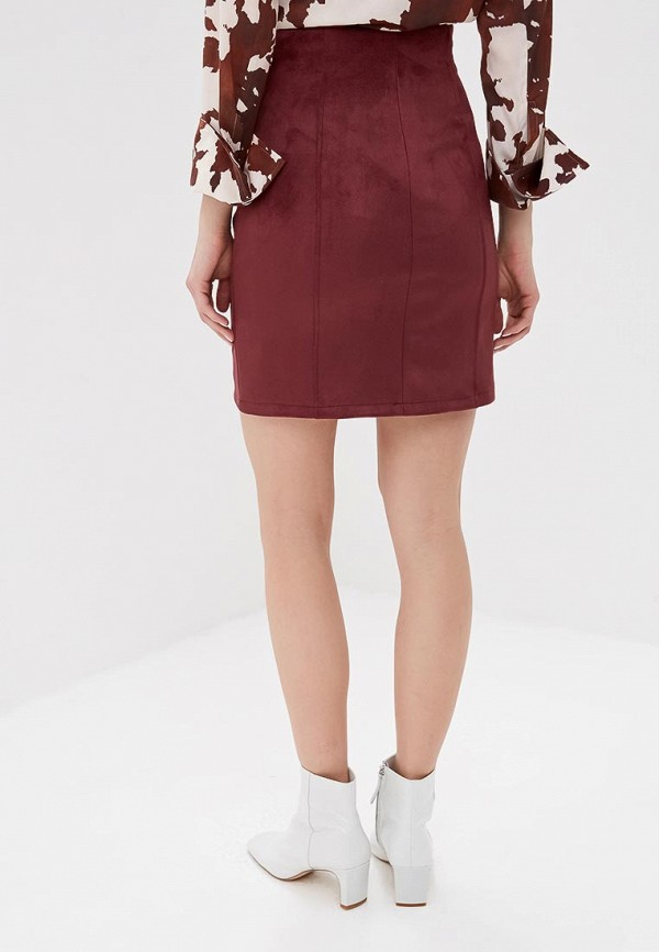 Фото 3 - женскую юбку Befree бордового цвета