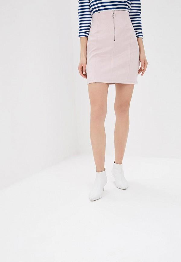 женская прямые юбка befree, розовая