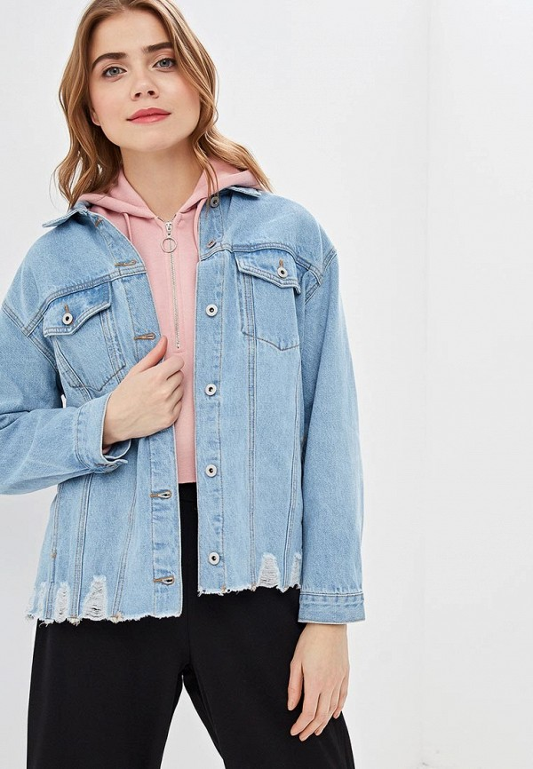 женская джинсовые куртка befree, голубая