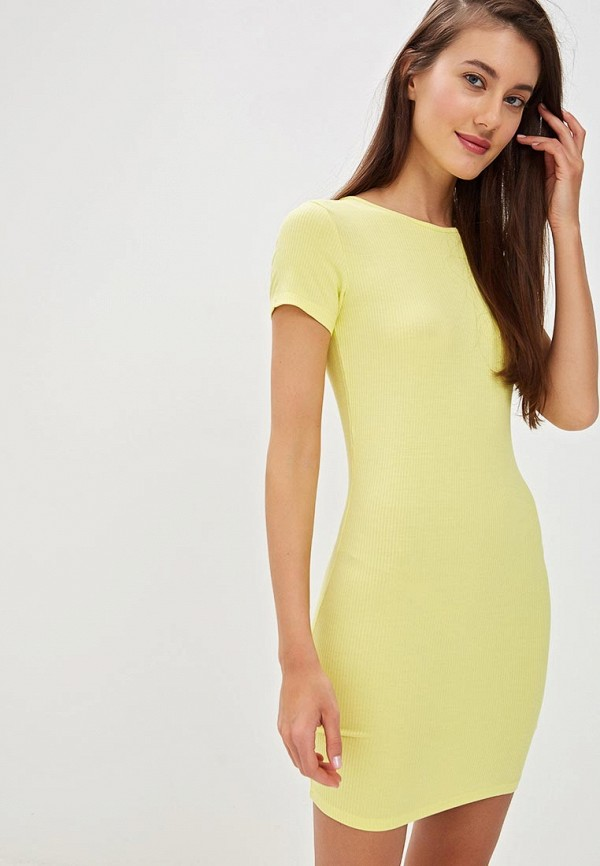 женское повседневные платье befree, желтое