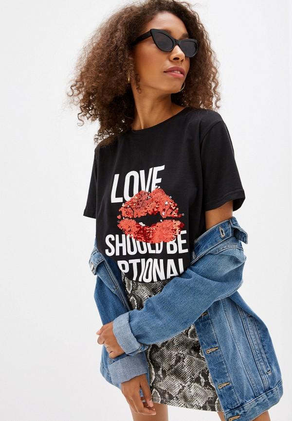 Фото - Женскую футболку Befree черного цвета