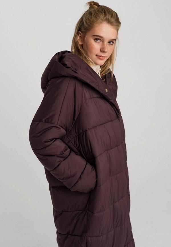 Фото 2 - Куртку утепленная Befree бордового цвета