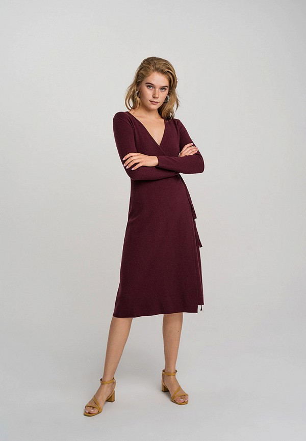 женское платье befree, бордовое