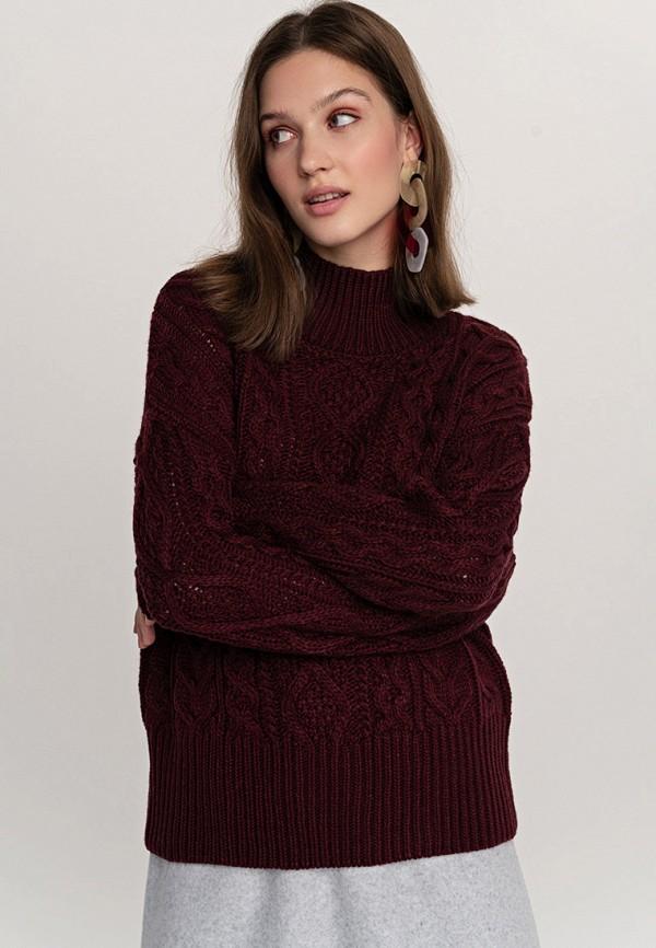 Фото - женский свитер Befree бордового цвета