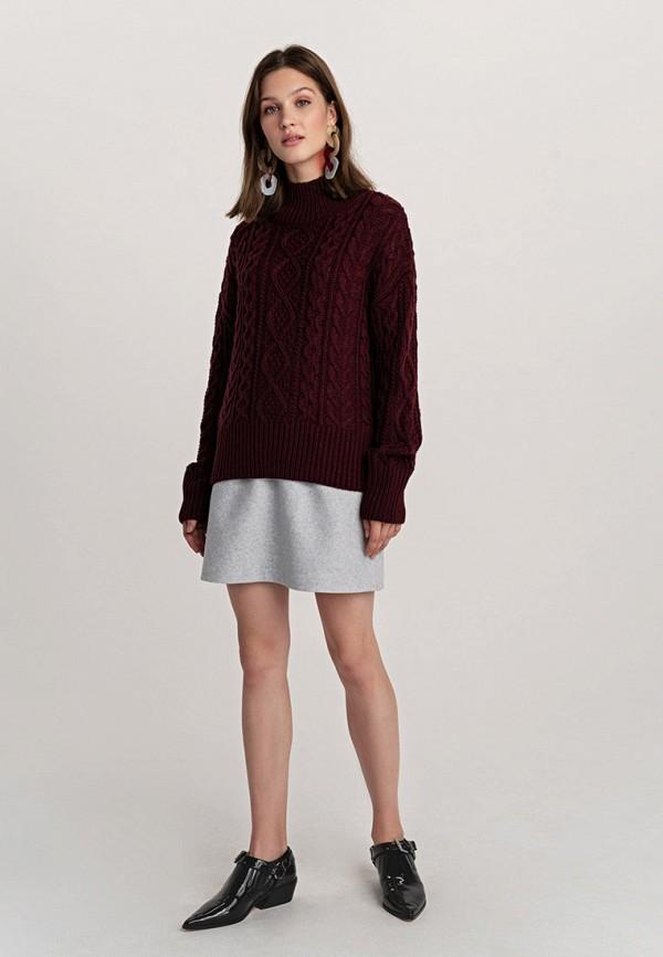 Фото 2 - женский свитер Befree бордового цвета