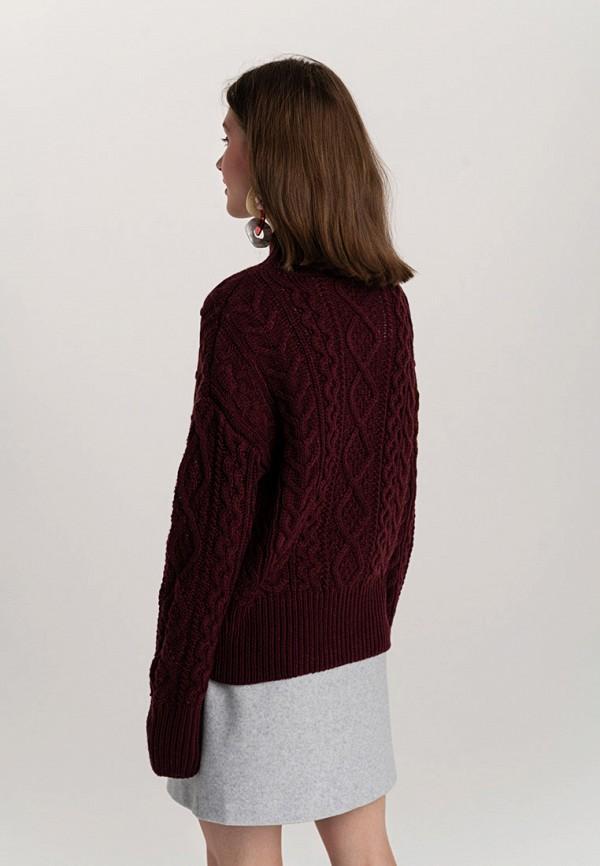 Фото 3 - женский свитер Befree бордового цвета