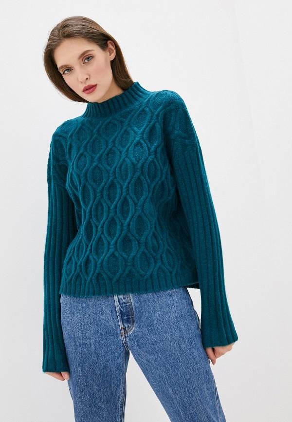 женский свитер befree, бирюзовый