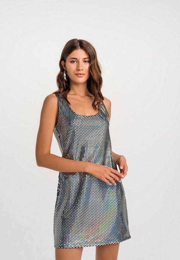 женское платье befree, серебряное