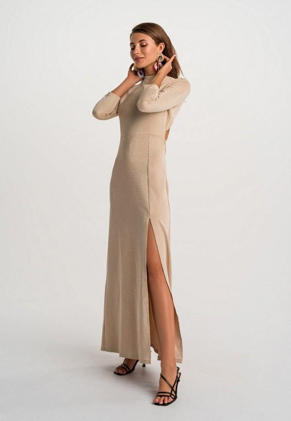 женское вечерние платье befree, золотое