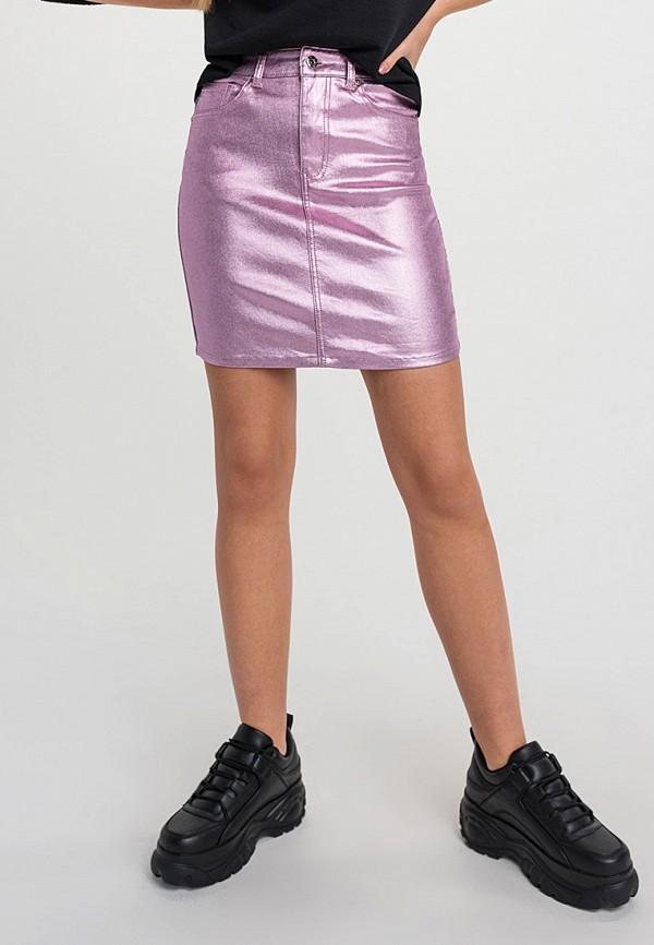 женская зауженные юбка befree, розовая