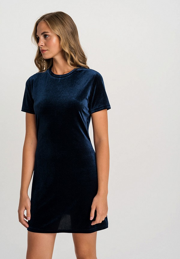 женское повседневные платье befree, синее