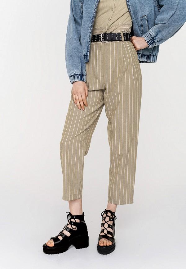 женские повседневные брюки befree, хаки