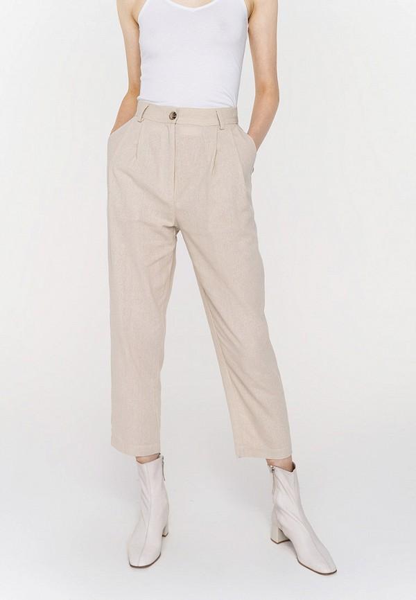 женские классические брюки befree, бежевые