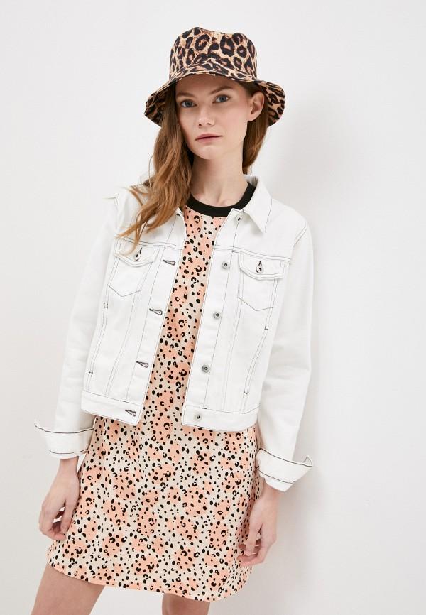женская джинсовые куртка befree, белая
