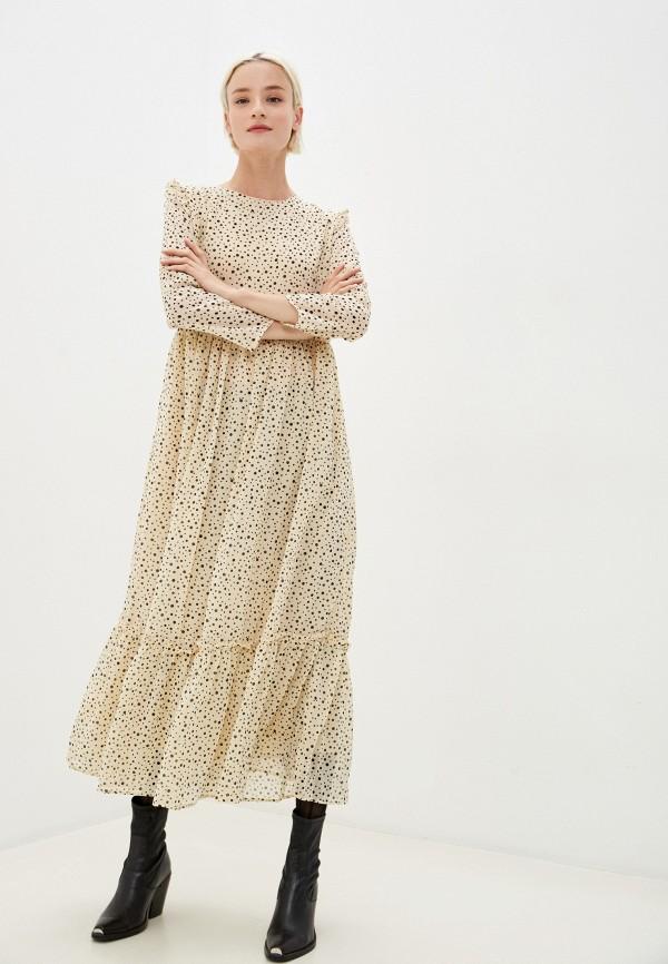 женское повседневные платье befree, бежевое