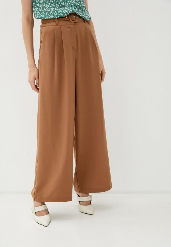 женские повседневные брюки befree, коричневые