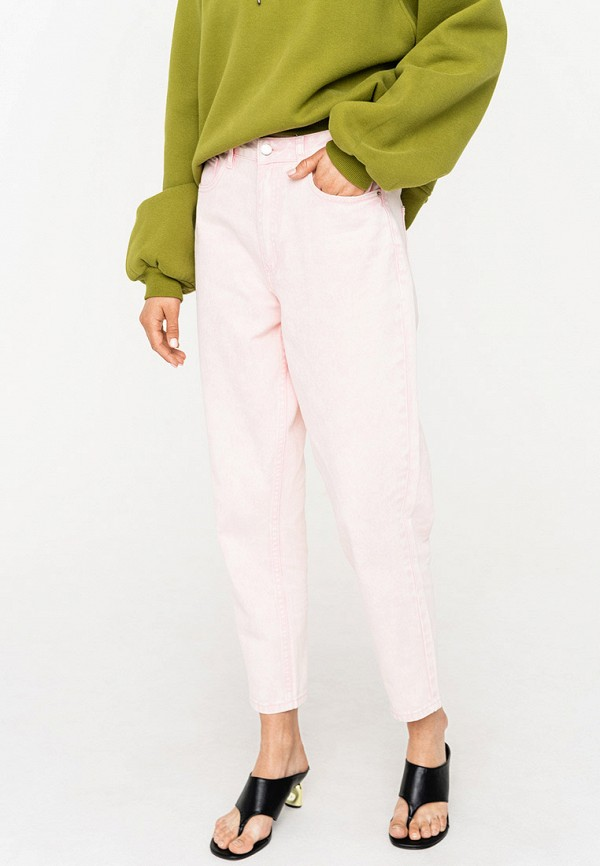 женские повседневные брюки befree, розовые