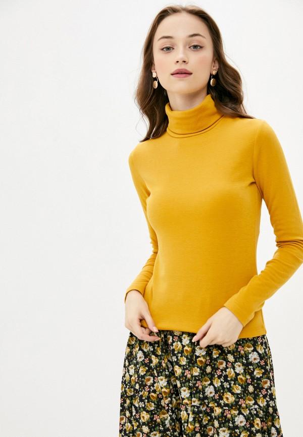 женская водолазка befree, желтая