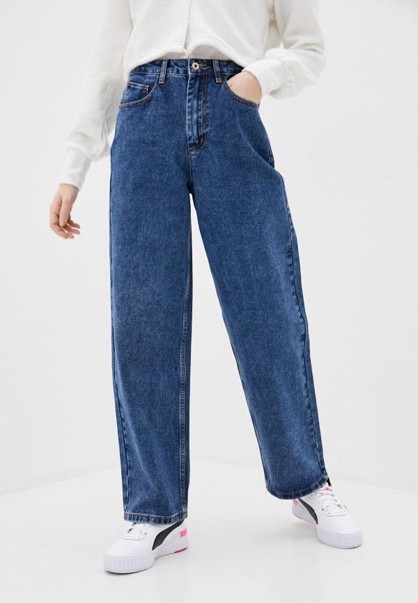 женские джинсы клеш befree, синие