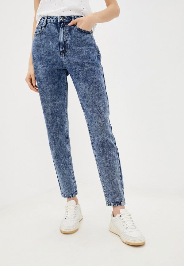 женские джинсы бойфренд befree, синие