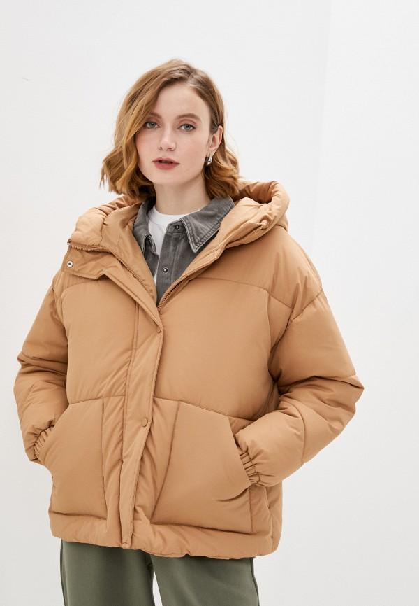 женская куртка befree, коричневая