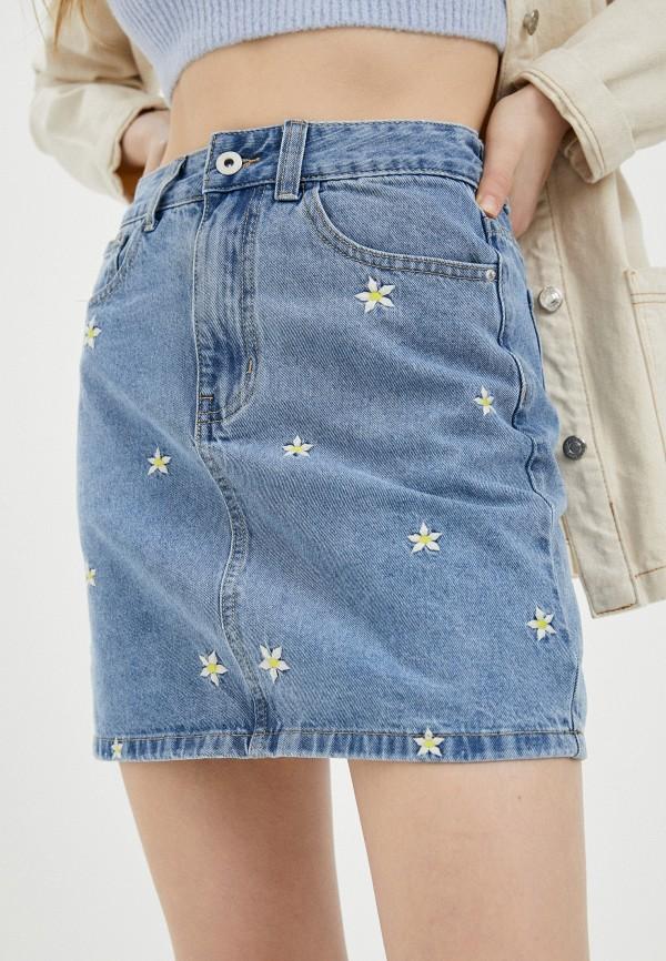 женская джинсовые юбка befree, голубая
