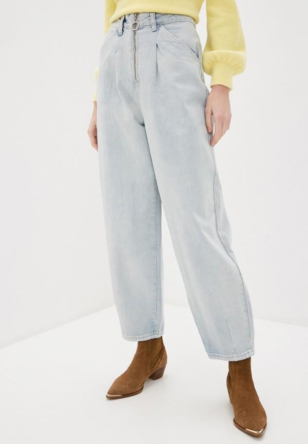 женские джинсы клеш befree, голубые