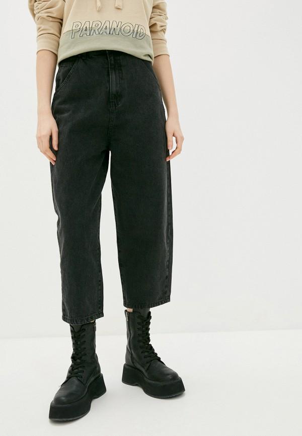 женские джинсы клеш befree, черные