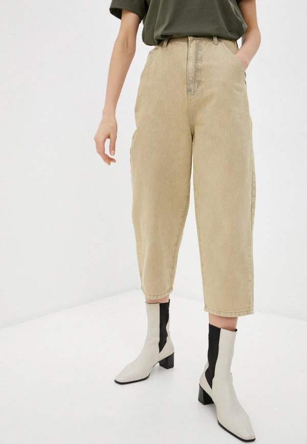 женские брюки befree, бежевые