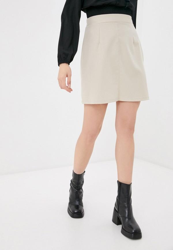 женская юбка befree, бежевая