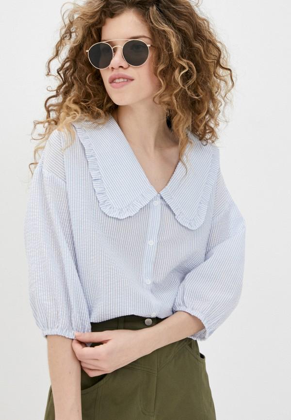 женская блузка befree, голубая
