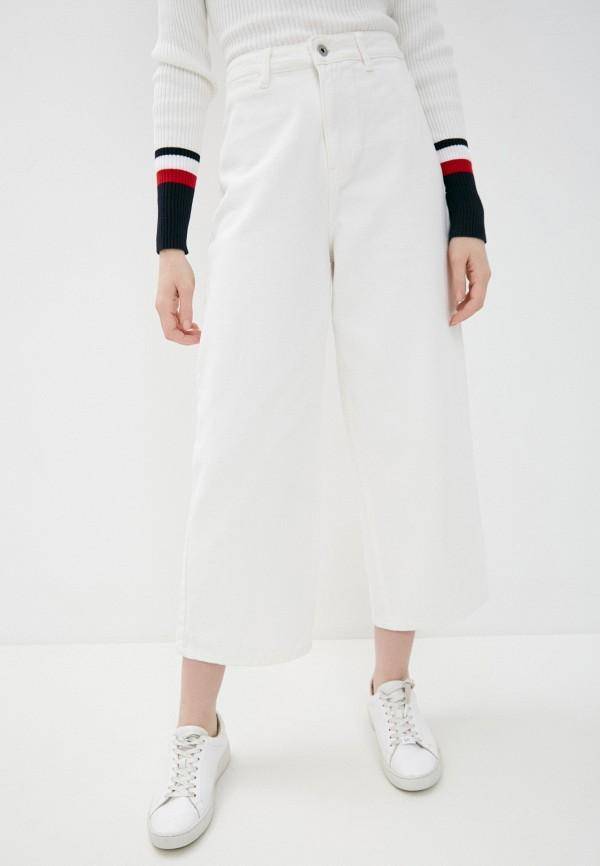 женские джинсы клеш befree, белые
