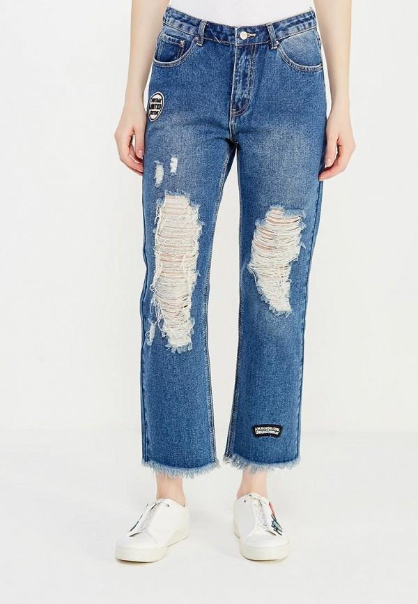 женские прямые джинсы befree, синие