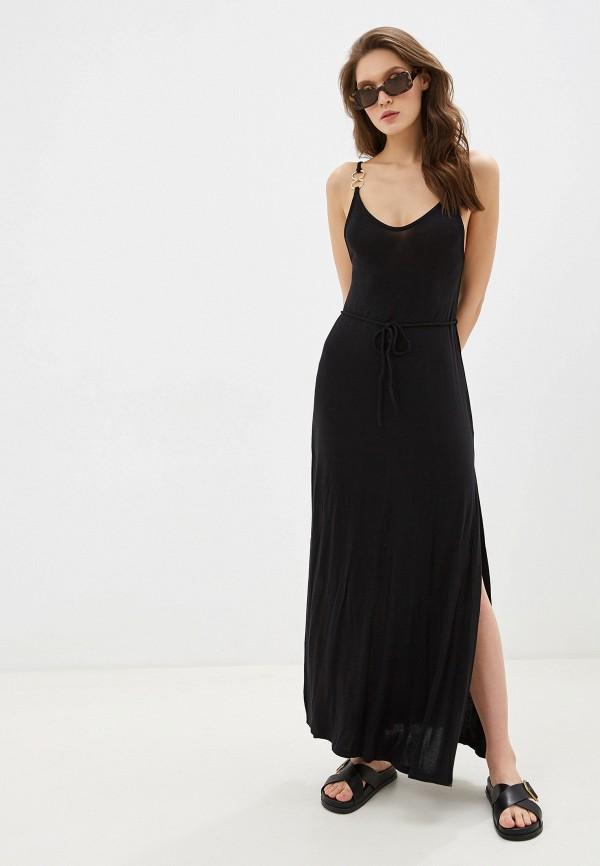женское платье beach bunny, черное