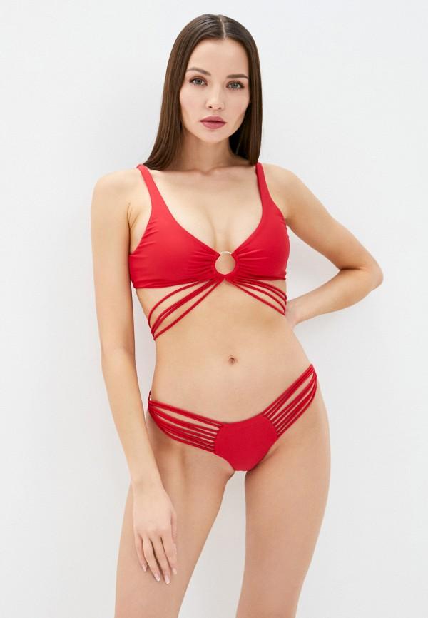 женские плавки beach bunny, красные