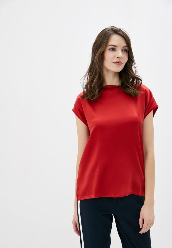 женская блузка с коротким рукавом betty barclay, красная