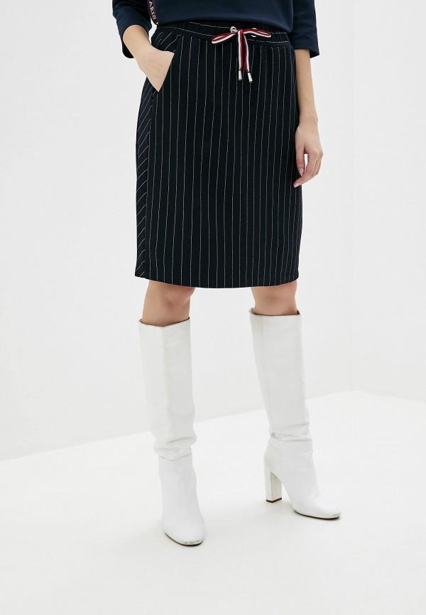 женская прямые юбка betty barclay, синяя