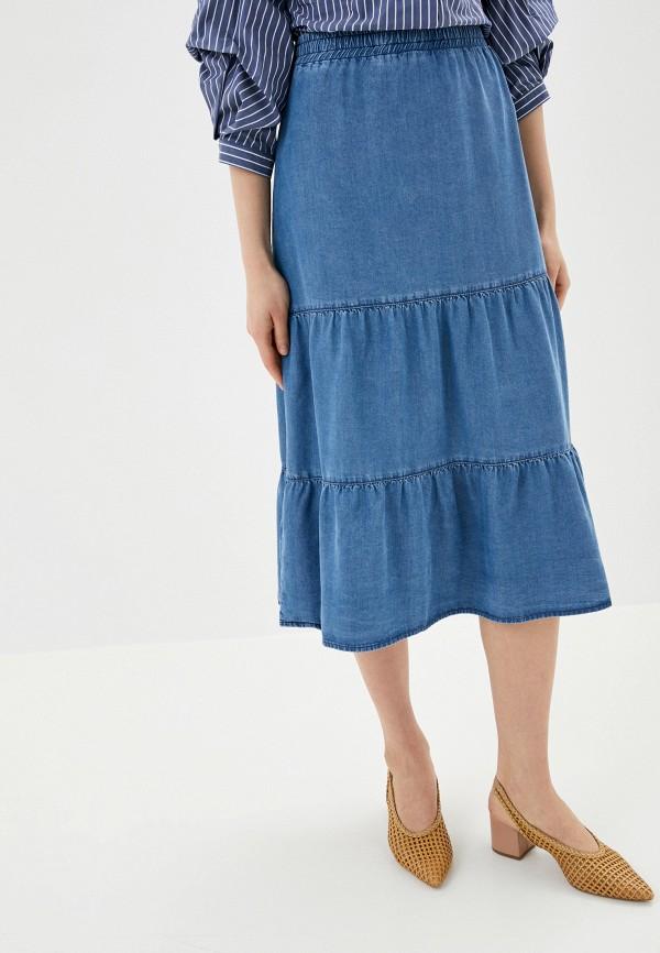 женская прямые юбка betty barclay, голубая