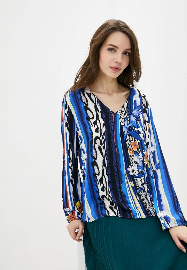 женская блузка с длинным рукавом betty barclay, синяя
