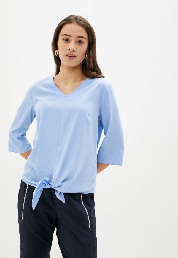 женская блузка с коротким рукавом betty barclay, голубая