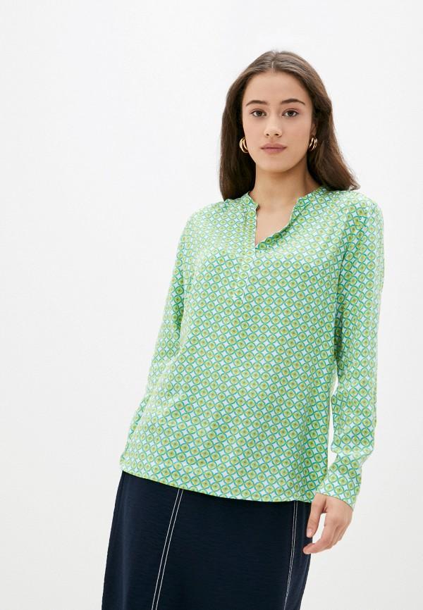женская блузка с длинным рукавом betty barclay, зеленая