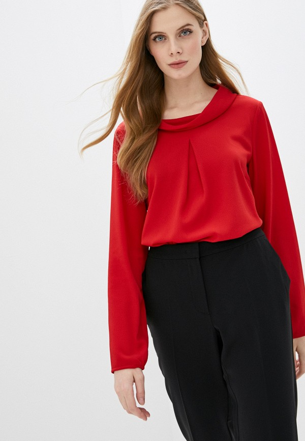 женская блузка с длинным рукавом betty barclay, красная