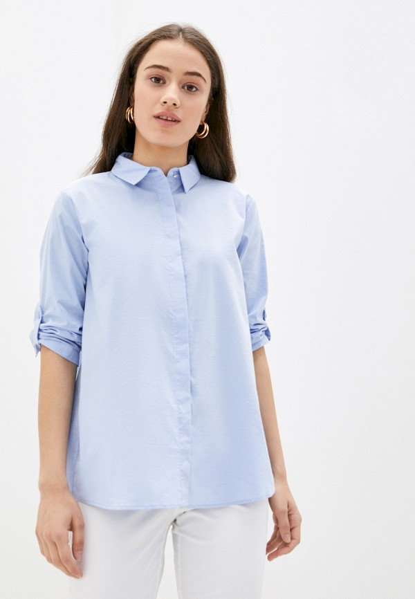 женская рубашка с длинным рукавом betty barclay, голубая