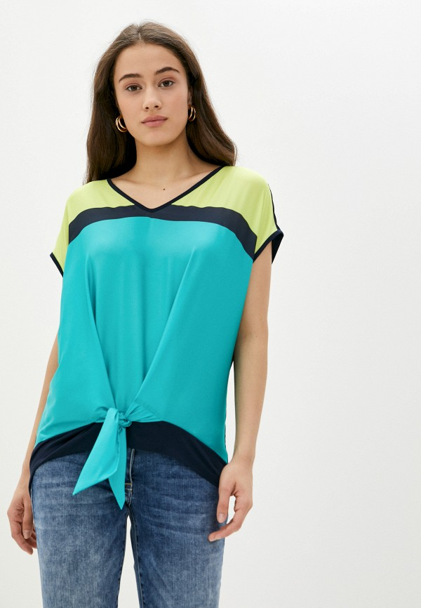 женская блузка betty barclay, бирюзовая