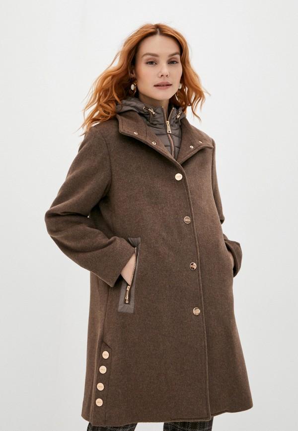 женское пальто betty barclay, коричневое