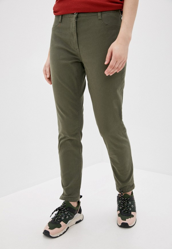 женские прямые брюки betty barclay, хаки