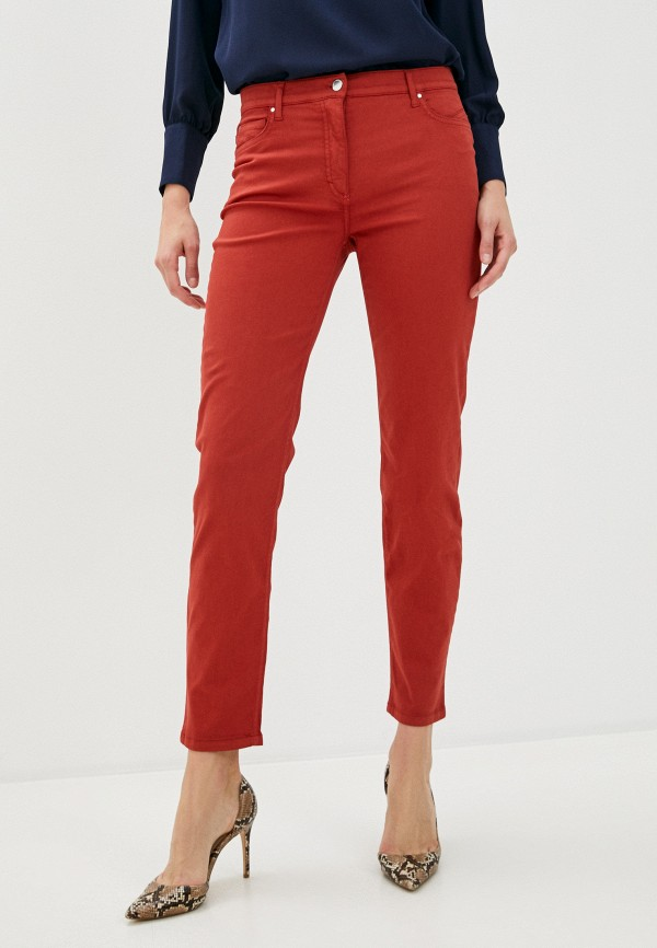 женские прямые брюки betty barclay, красные
