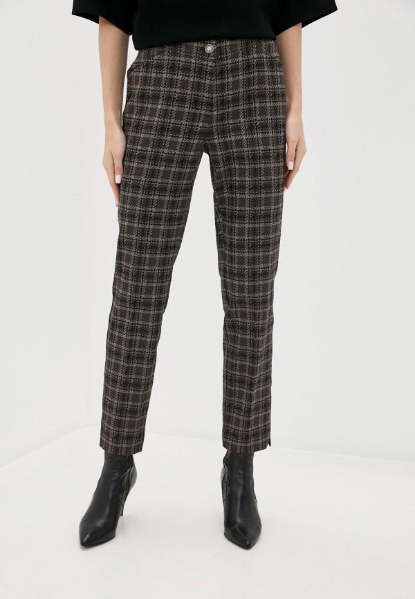 женские зауженные брюки betty barclay, коричневые