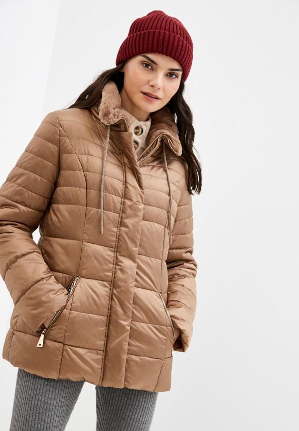 женская куртка betty barclay, коричневая