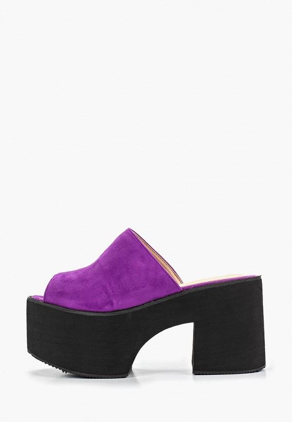 женское сабо bellamica, фиолетовое
